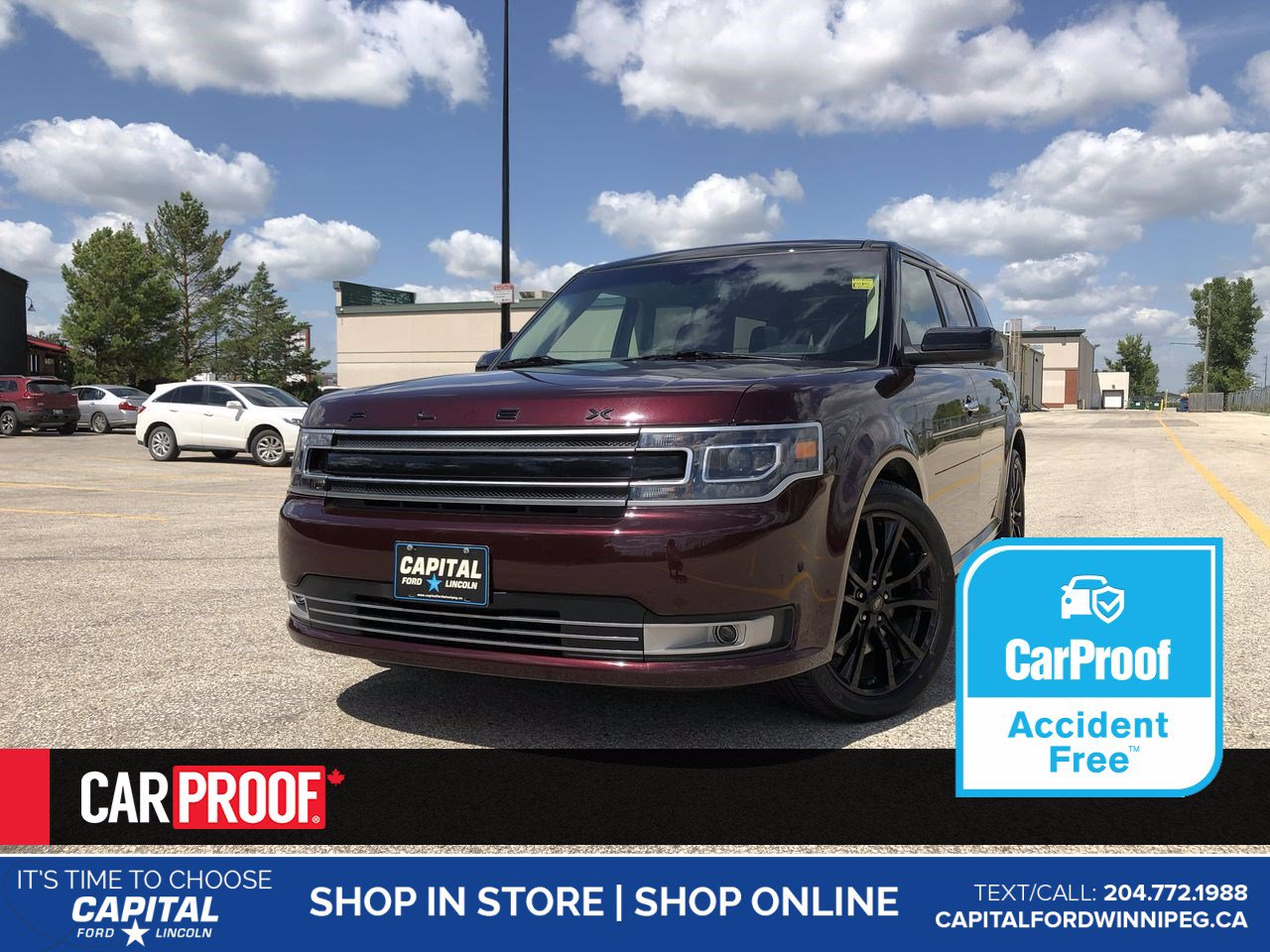 Pre-Owned 2019 Ford Flex Limited EcoBoost AWD *No Accidents *Sunroof *Navigation