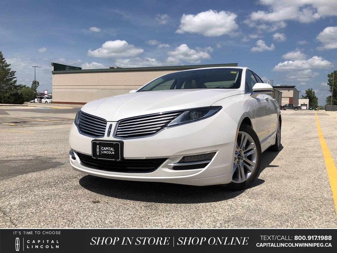 Pre-Owned 2015 Lincoln MKZ 4DR SDN FWD *LED Headlights *Navigation *Leather Seats
