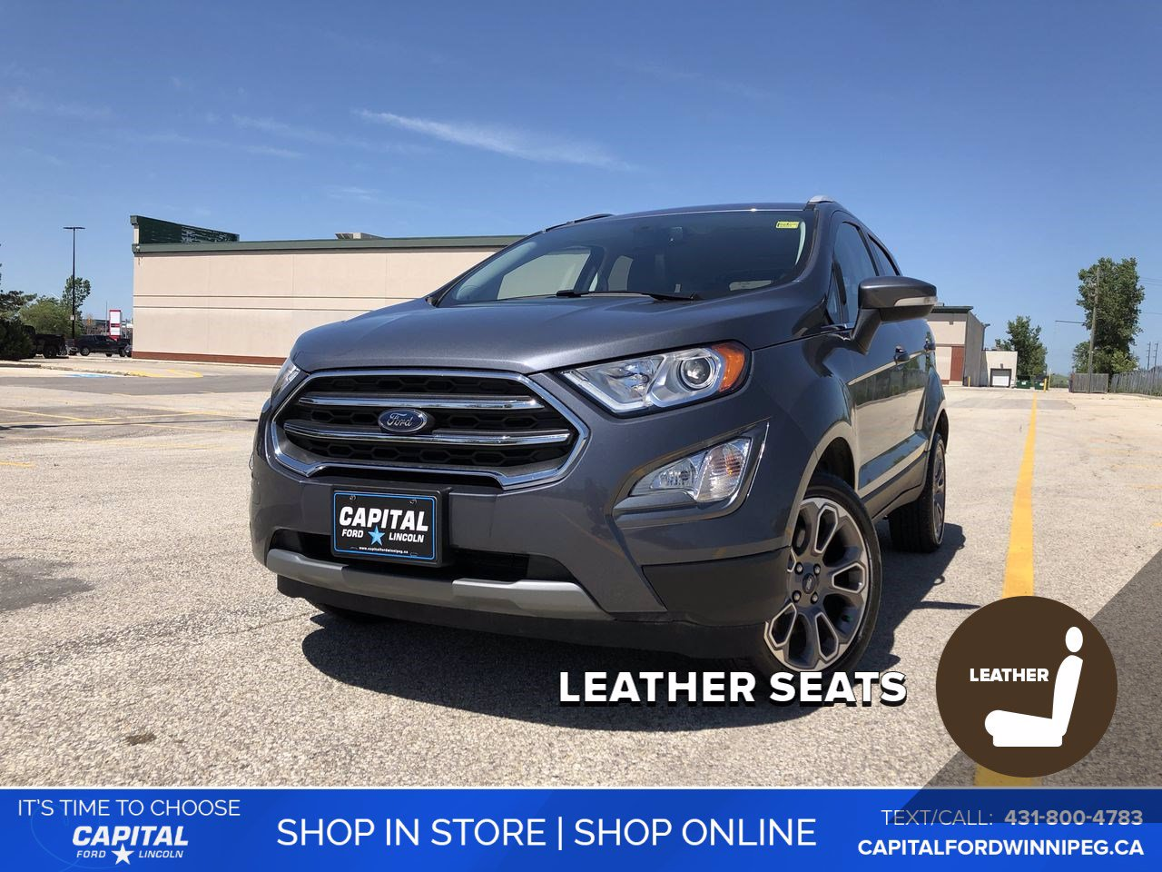 Pre-Owned 2019 Ford EcoSport Titanium *Heated Steering Wheel *Sunroof *Navigation